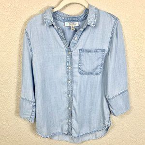 Coolibar Tencel Chambray Shirt UPF 50+ sz S